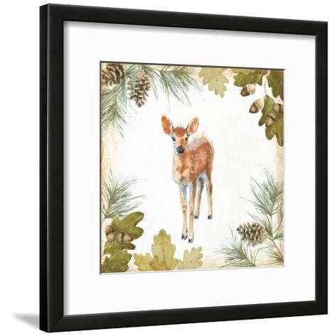 Into the Woods III on White Border-Emily Adams-Framed Art Print