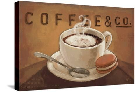 Coffee and Co V-Janelle Penner-Stretched Canvas Print