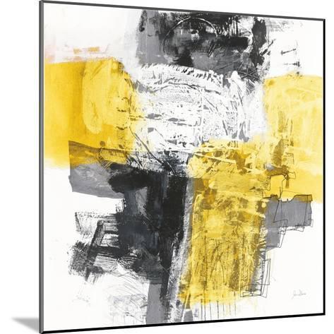 Action I Yellow and Black Sq-Jane Davies-Mounted Art Print