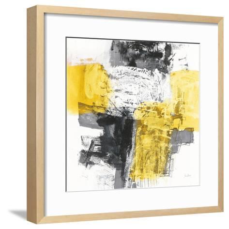 Action I Yellow and Black Sq-Jane Davies-Framed Art Print