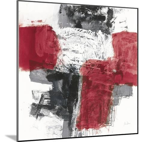 Action I Red Black Sq-Jane Davies-Mounted Art Print
