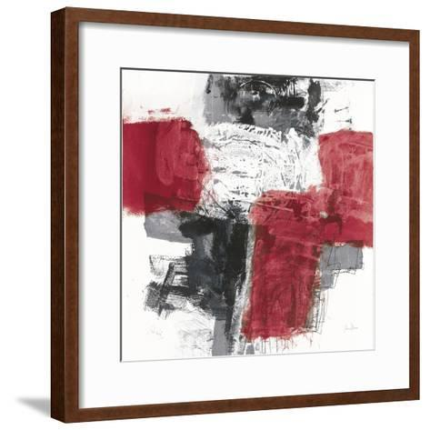 Action I Red Black Sq-Jane Davies-Framed Art Print