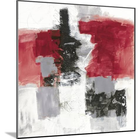Action II Red Black Sq-Jane Davies-Mounted Art Print