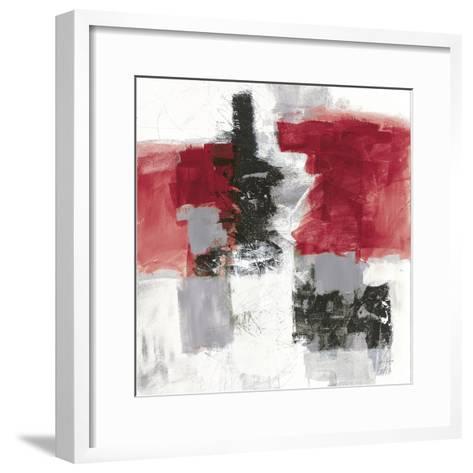 Action II Red Black Sq-Jane Davies-Framed Art Print