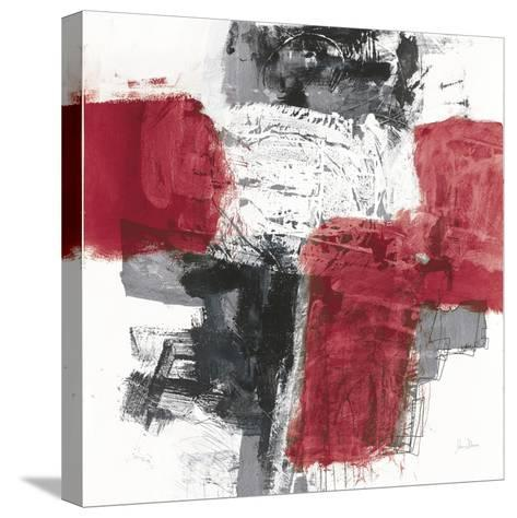 Action I Red Black Sq-Jane Davies-Stretched Canvas Print