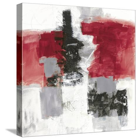 Action II Red Black Sq-Jane Davies-Stretched Canvas Print