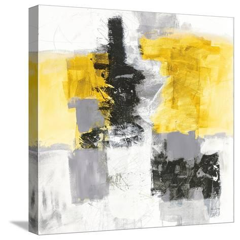 Action II Yellow and Black Sq-Jane Davies-Stretched Canvas Print
