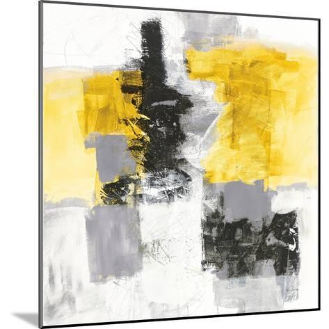 Action II Yellow and Black Sq-Jane Davies-Mounted Art Print