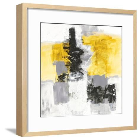 Action II Yellow and Black Sq-Jane Davies-Framed Art Print