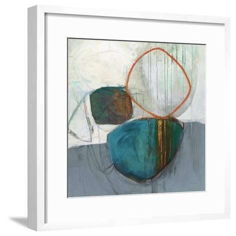 Circle Tower Turquoise Crop-Jane Davies-Framed Art Print