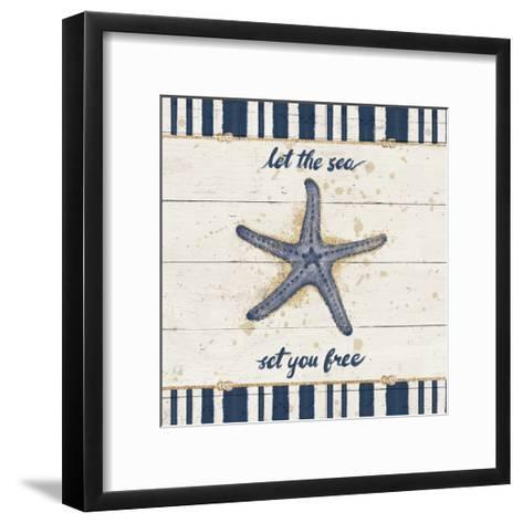 Calm Seas II Gold Rope Border-Janelle Penner-Framed Art Print