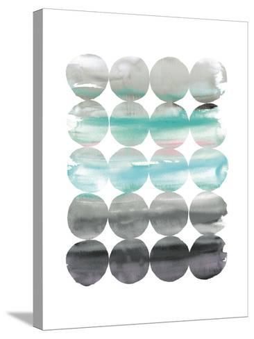 Summer Dots v2 Neutral-Elyse DeNeige-Stretched Canvas Print
