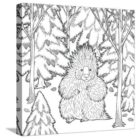 Color the Forest IX-Elyse DeNeige-Stretched Canvas Print
