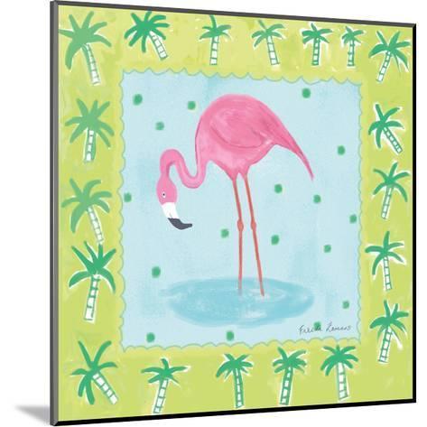 Flamingo Dance III-Farida Zaman-Mounted Art Print