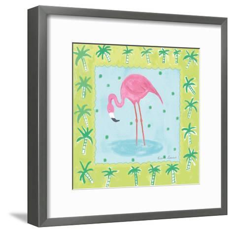 Flamingo Dance III-Farida Zaman-Framed Art Print