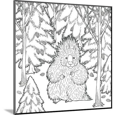 Color the Forest IX-Elyse DeNeige-Mounted Art Print