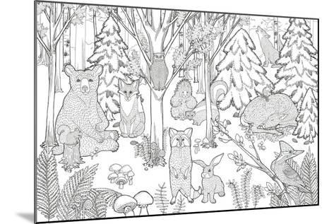 Color the Forest XIII-Elyse DeNeige-Mounted Art Print