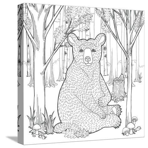 Color the Forest I-Elyse DeNeige-Stretched Canvas Print
