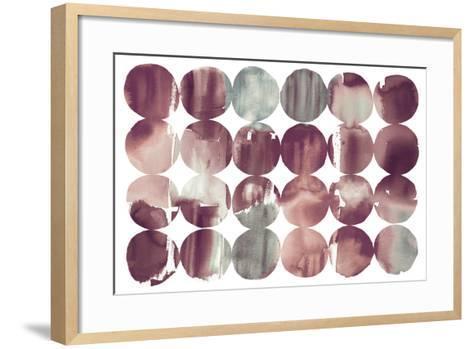Spring Dots Plum-Elyse DeNeige-Framed Art Print