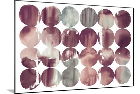 Spring Dots Plum-Elyse DeNeige-Mounted Art Print