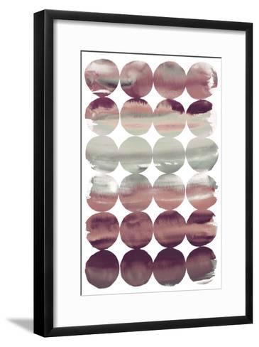 Summer Dots Plum-Elyse DeNeige-Framed Art Print