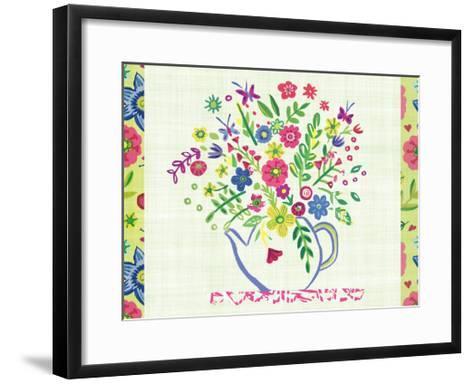 Pastel Summer Florals I-Farida Zaman-Framed Art Print