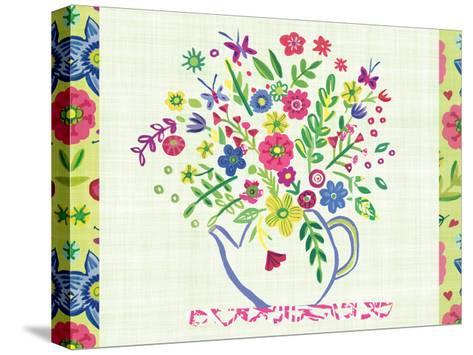 Pastel Summer Florals I-Farida Zaman-Stretched Canvas Print