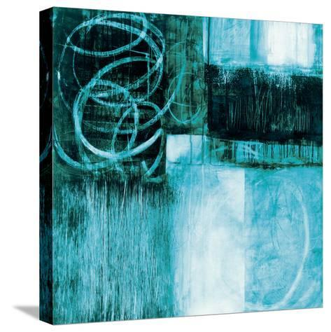 A Wintry Day II Dark Blue-Jane Davies-Stretched Canvas Print