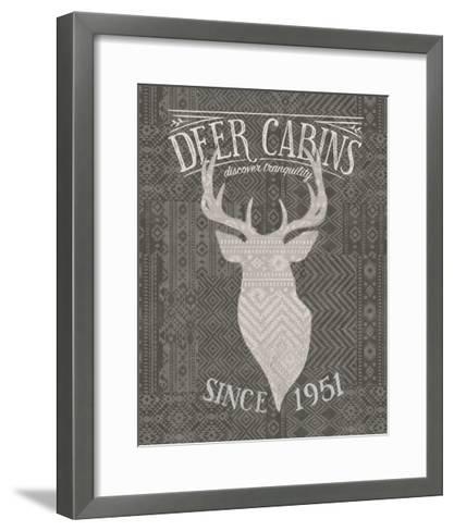 Soft Lodge VI Dark-Janelle Penner-Framed Art Print
