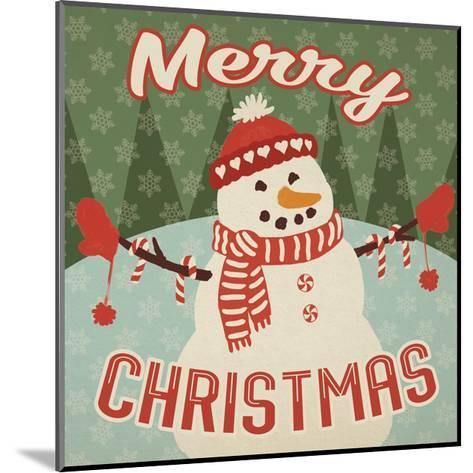 Retro Christmas VII Merry Christmas-Janelle Penner-Mounted Art Print
