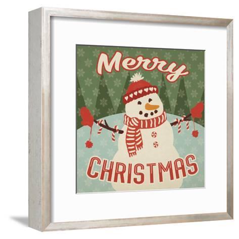 Retro Christmas VII Merry Christmas-Janelle Penner-Framed Art Print