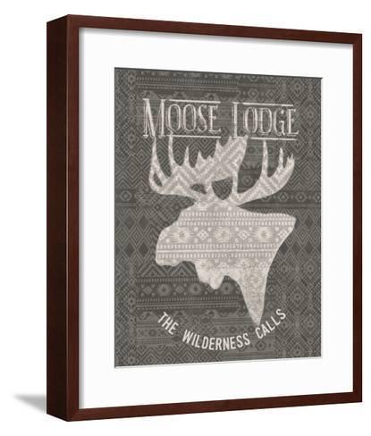 Soft Lodge V Dark-Janelle Penner-Framed Art Print