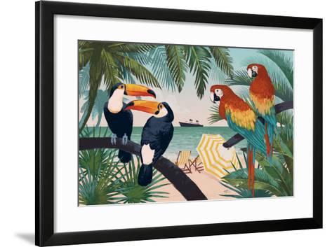 Welcome to Paradise VI-Janelle Penner-Framed Art Print