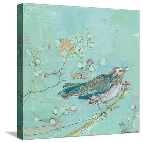 Birds of a Feather with Teal-Kellie Day-Stretched Canvas Print