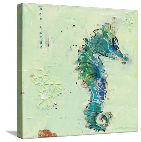 Little Seahorse-Kellie Day-Stretched Canvas Print