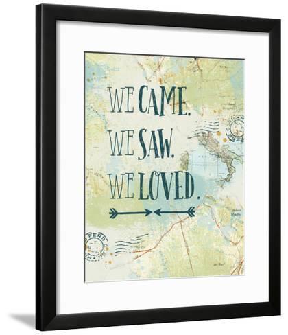 Map Sentiments III-Katie Pertiet-Framed Art Print