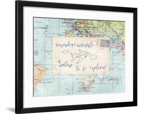 Travel Posts IV-Katie Pertiet-Framed Art Print
