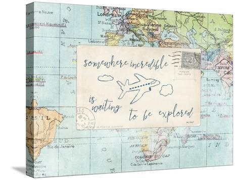 Travel Posts IV-Katie Pertiet-Stretched Canvas Print