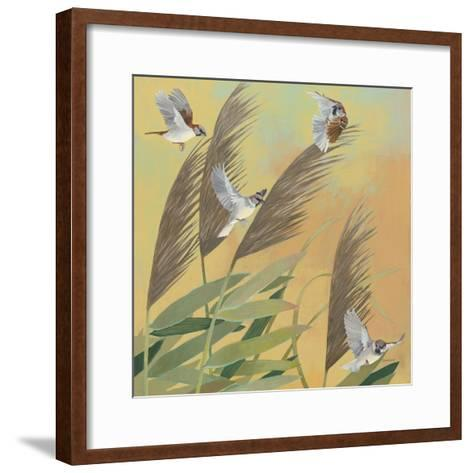 Sparrows and Phragmates Sq-Kathrine Lovell-Framed Art Print