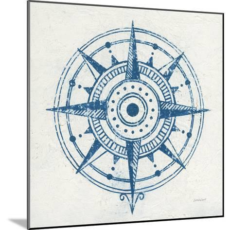 Indigo Gild Compass Rose I-Kathrine Lovell-Mounted Art Print