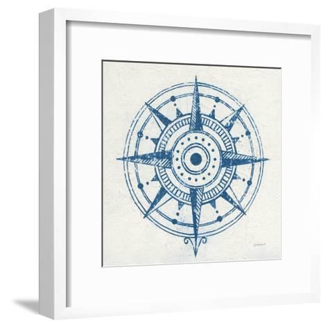 Indigo Gild Compass Rose I-Kathrine Lovell-Framed Art Print