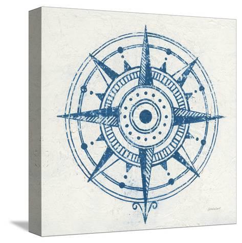 Indigo Gild Compass Rose I-Kathrine Lovell-Stretched Canvas Print