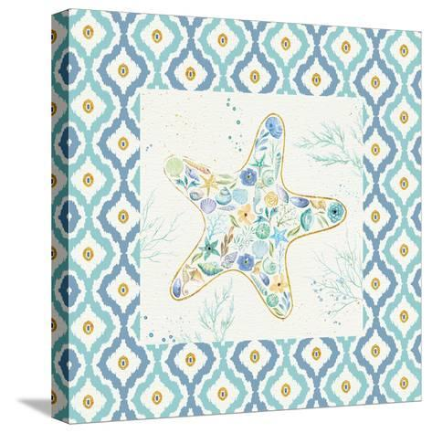 Seaside Blossoms II Border no Words-Jess Aiken-Stretched Canvas Print