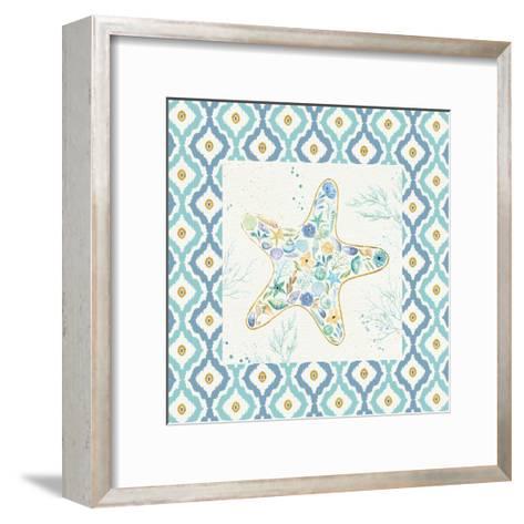 Seaside Blossoms II Border no Words-Jess Aiken-Framed Art Print