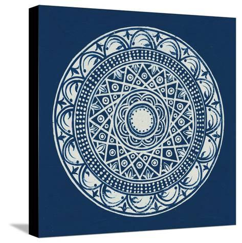 Seville III Dark Blue FB-Kathrine Lovell-Stretched Canvas Print