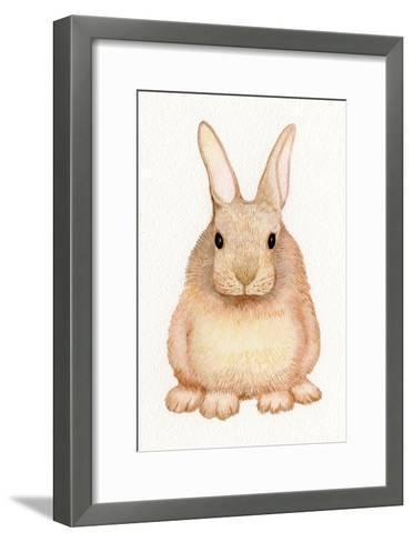 Spring Bunny I White-Kathleen Parr McKenna-Framed Art Print