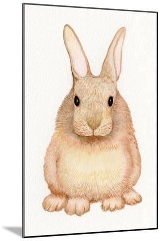 Spring Bunny I White-Kathleen Parr McKenna-Mounted Art Print