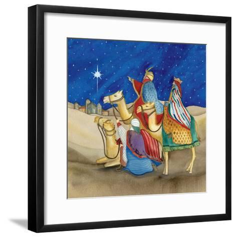Christmas in Bethlehem II Square-Kathleen Parr McKenna-Framed Art Print