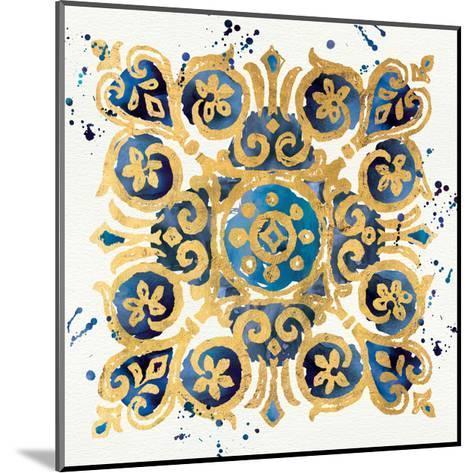Little Jewels III Blue-Jess Aiken-Mounted Art Print