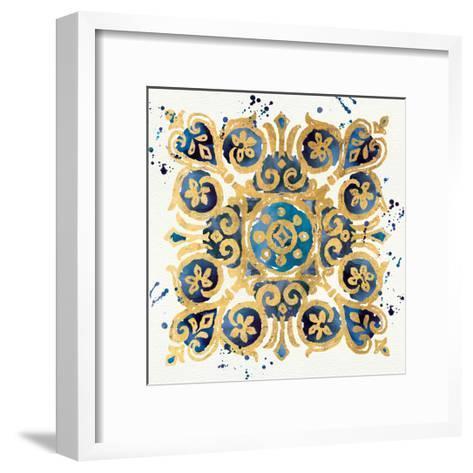 Little Jewels III Blue-Jess Aiken-Framed Art Print